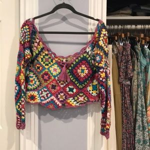 SPELL and the Gypsy CARNABY granny square top